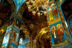 Binnenland van de kerk Stock Foto
