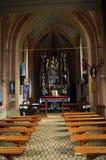 Binnenland van de kerk royalty-vrije stock fotografie