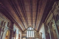 Binnenland van de kerk van San Fermo Maggiore, Verona, Italië stock foto