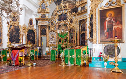 Binnenland van de Kerk van het Heilige Gezicht in het dorp Mlevo Royalty-vrije Stock Afbeeldingen