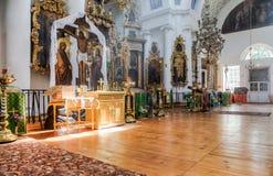 Binnenland van de Kerk van het Heilige Gezicht in het dorp Mlevo Royalty-vrije Stock Foto