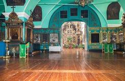Binnenland van de Kerk van het Heilige Gezicht in het dorp Mlevo  Stock Afbeeldingen
