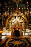 Binnenland van de Kerk van het Heilige Grafgewelf stock foto