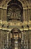 Binnenland van de kerk van São Francisco, Salvador, Brazilië stock afbeeldingen