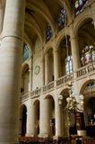Binnenland van de kerk van Saint-Etienne Royalty-vrije Stock Fotografie