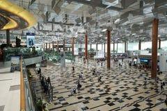 Binnenland van de Luchthaven van Singapore Changi Stock Foto