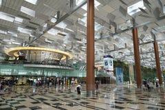 Binnenland van de Luchthaven van Singapore Changi Stock Afbeeldingen