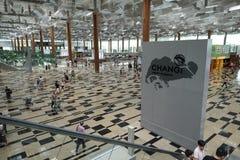 Binnenland van de Luchthaven van Singapore Changi Stock Afbeelding