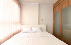 Binnenland van de luxe het moderne slaapkamer en decoratie, binnenlands ontwerp Royalty-vrije Stock Afbeeldingen