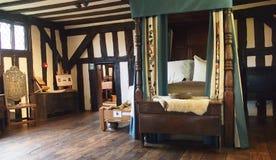 Binnenland van de middeleeuwse Selly-Manor in Birmingham, Engeland royalty-vrije stock afbeeldingen