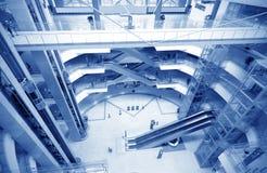 Binnenland van de moderne bouw stock fotografie