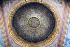 Binnenland van de moskee in Istanboel Stock Foto's