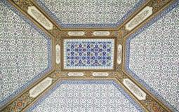 Binnenland van de moskee in Istanboel Royalty-vrije Stock Foto's