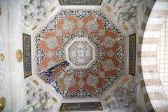 Binnenland van de moskee in Istanboel Royalty-vrije Stock Foto