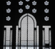 Binnenland van de Moskee van Hassan II Stock Foto's