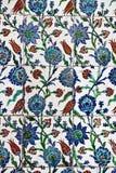 Binnenland van de Moskee van Sultanahmet het Blauwe - tegels Stock Afbeeldingen