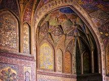 Binnenland van de Moskee van Wazir Khan Stock Foto
