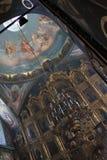 Binnenland van de orthodoxe kerk Stock Afbeeldingen