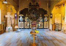 Binnenland van de Orthodoxe Kerk Stock Fotografie