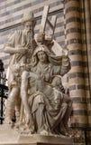 Binnenland van de Orvieto-Kathedraal stock afbeelding