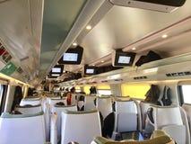 Binnenland van de Pendolino het Interlokale trein Royalty-vrije Stock Afbeeldingen