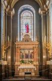 Binnenland van de rooms-katholieke kerkst Stephen ` s Basiliek Boedapest, Hongarije Royalty-vrije Stock Foto's