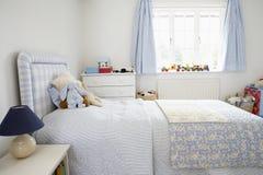 Binnenland van de Slaapkamer van het Kind Stock Foto
