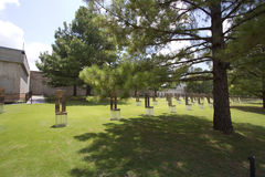 Binnenland van de stads Nationaal Gedenkteken van Oklahoma Royalty-vrije Stock Fotografie