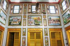 Binnenland van de Tempel van Sridigamber Jain, Singhpuri, Sarnath Stock Fotografie