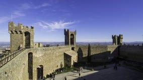Binnenland van de Vesting van Montalcino royalty-vrije stock foto's