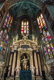 Binnenland van Duomo-Di Milaan (Koepel van Milaan), Milaan, Italië royalty-vrije stock afbeeldingen