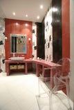binnenland van een badkamers stock foto's