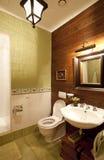 Binnenland van een badkamers Stock Afbeeldingen