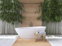 Binnenland van een badkamers het 3d teruggeven Royalty-vrije Stock Foto
