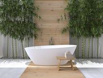 Binnenland van een badkamers het 3d teruggeven Royalty-vrije Stock Foto's