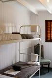 Binnenland van een cabine van een uitstekend stoomschip Royalty-vrije Stock Foto's