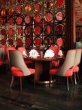 Binnenland van een Chinees Restaurant Stock Afbeeldingen