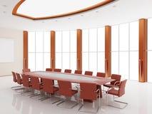 Binnenland van een conferentie van een zaal stock illustratie
