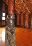 Binnenland van een huis van de Maorivergadering Royalty-vrije Stock Afbeelding
