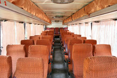 Binnenland van een interlokale bus stock afbeelding