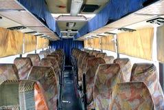 Binnenland van een interlokale bus stock foto's