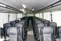 Binnenland van een interlokale bus Stock Fotografie