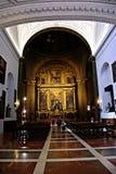 Binnenland van een kerk in Sevilla Stock Foto's