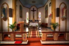 Binnenland van een Kleine Kerk Stock Fotografie