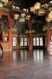 Binnenland van een Koreaans paleis stock foto's