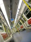 Binnenland van een moderne trein Stock Afbeelding