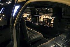 Binnenland van een limousine stock foto's