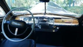 Binnenland van een limousine van DeSoto van 1949 in Lima wordt geparkeerd dat royalty-vrije stock foto's