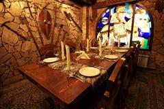 Binnenland van een middeleeuws kasteel Royalty-vrije Stock Afbeeldingen