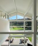 Binnenland van een modern huis Stock Foto